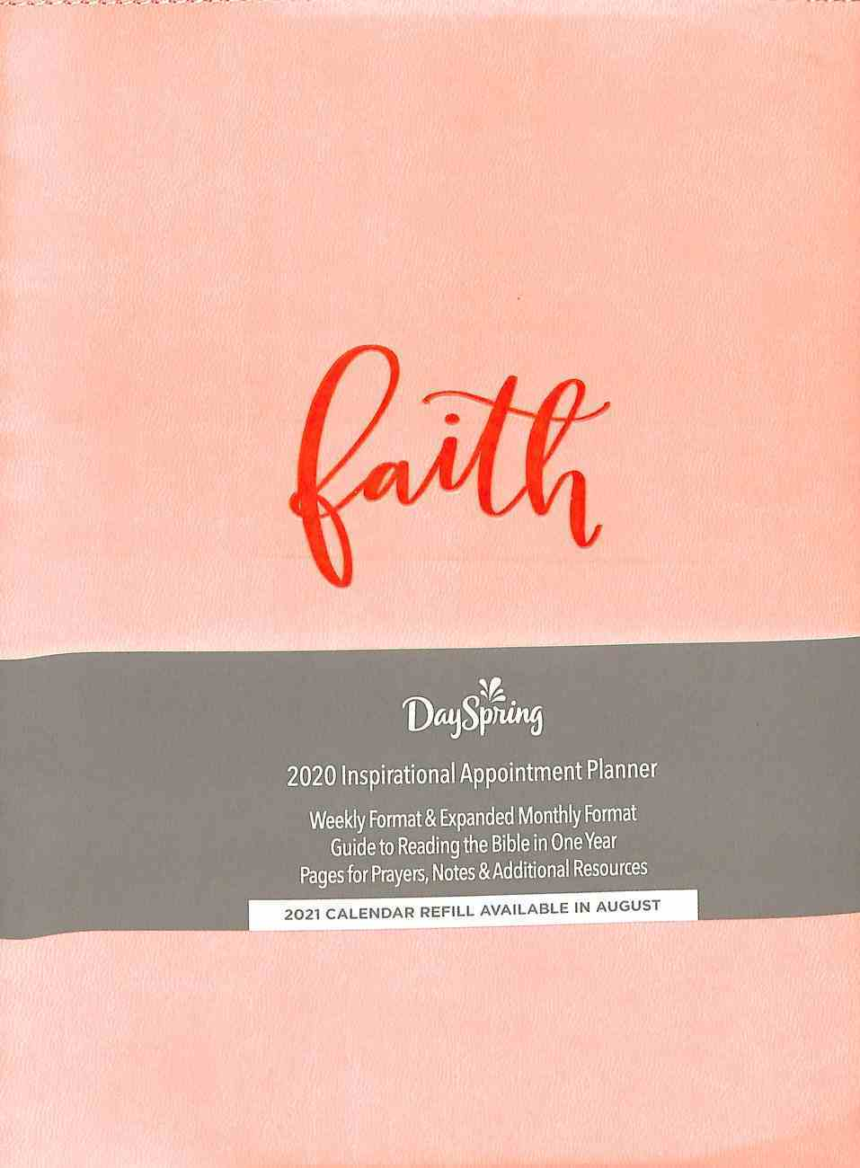 2020 Appointment Diary/Planner: Faith, Pink Dots, Premium Faux Leather Spiral