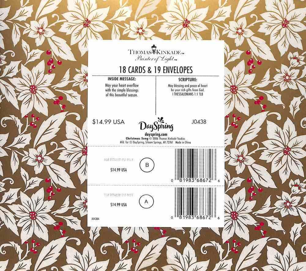 Christmas Boxed Cards: Thomas Kinkade Christmas Song (1 Thess 1:1 Tlb) Cards