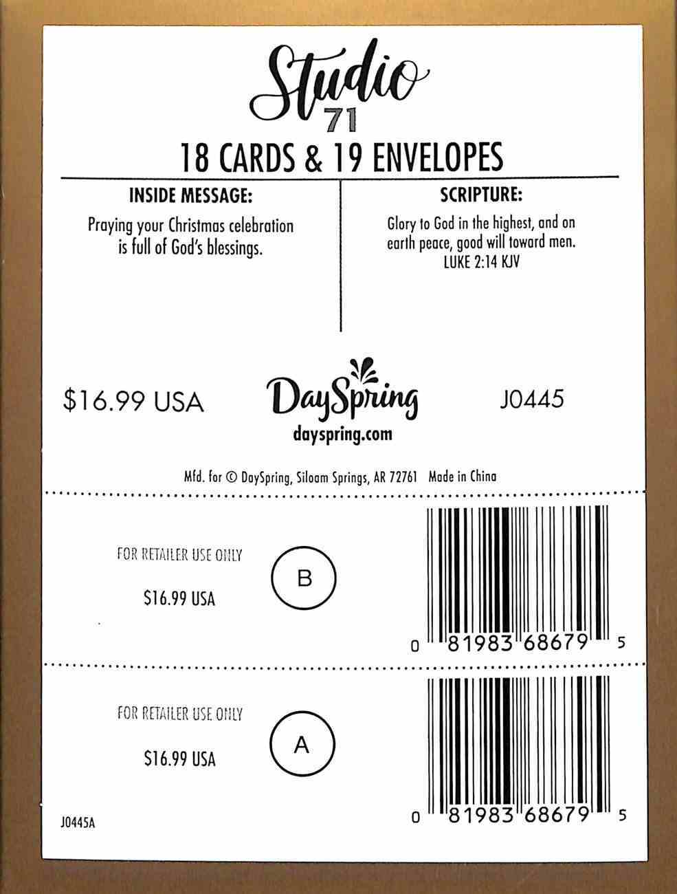 Christmas Match Boxed Cards: Ornaments (Luke 2:14 Kjv) Cards