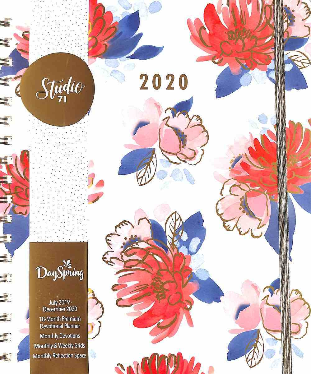 2020 18-Month Premium Devotional Diary/Planner: Floral Spiral