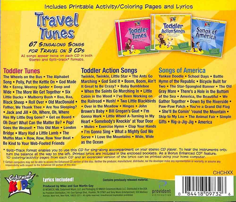 Cedarmont Kids: Travel Tunes CD