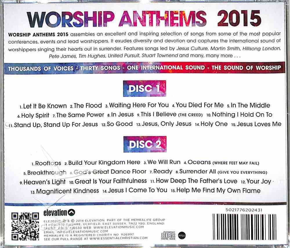 Worship Anthems 2015 (2 Cds) CD
