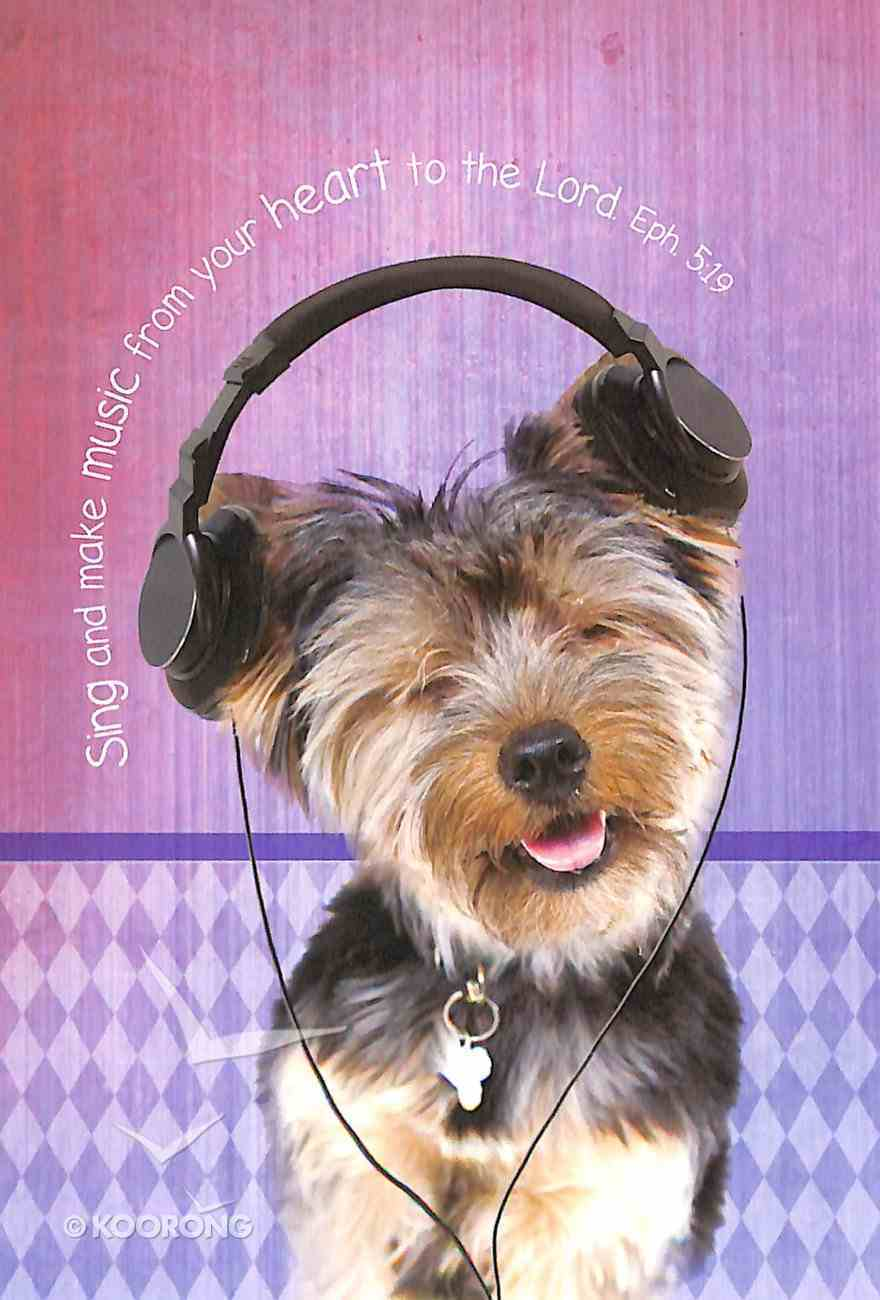 Notepad: Sing and Make Music From Your Heart (Puppy Wearing Headphones) Stationery