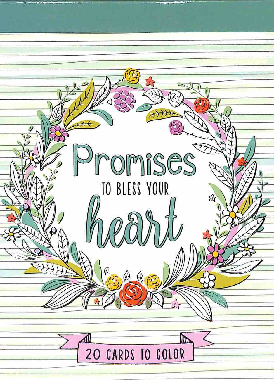 Adult Boxed Coloring Cards: Promises to Bless Your Heart Box
