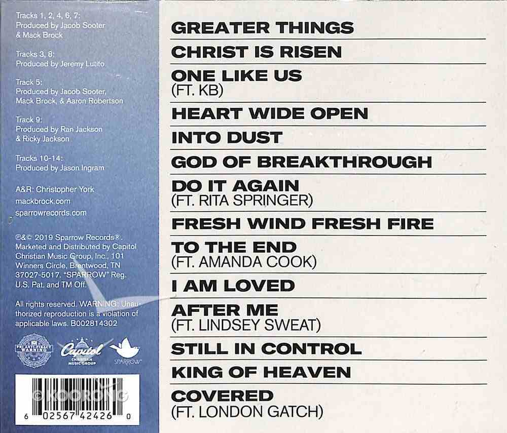 Greater Things CD