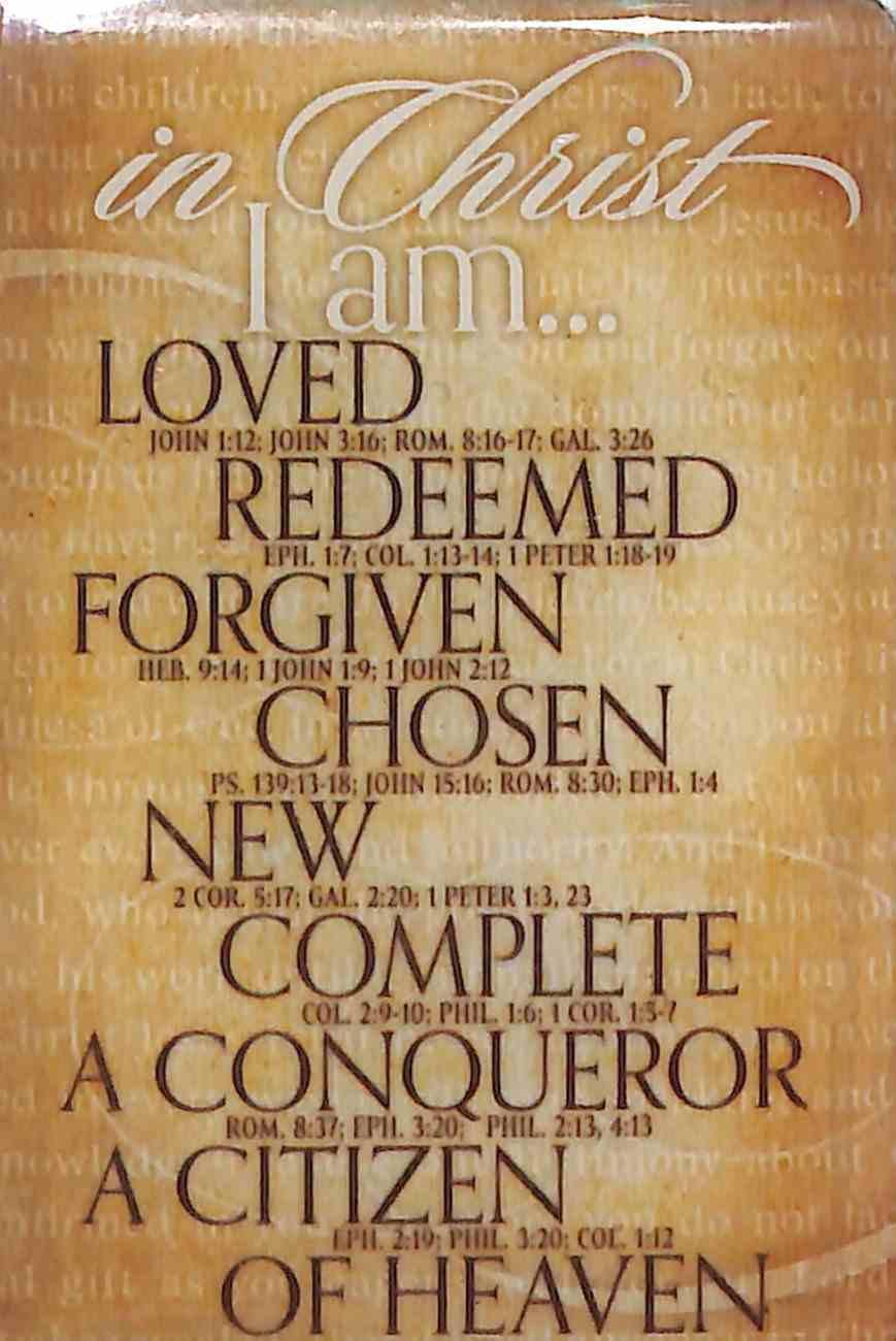 Magnet: In Christ, I Am (Various Scriptures) Novelty