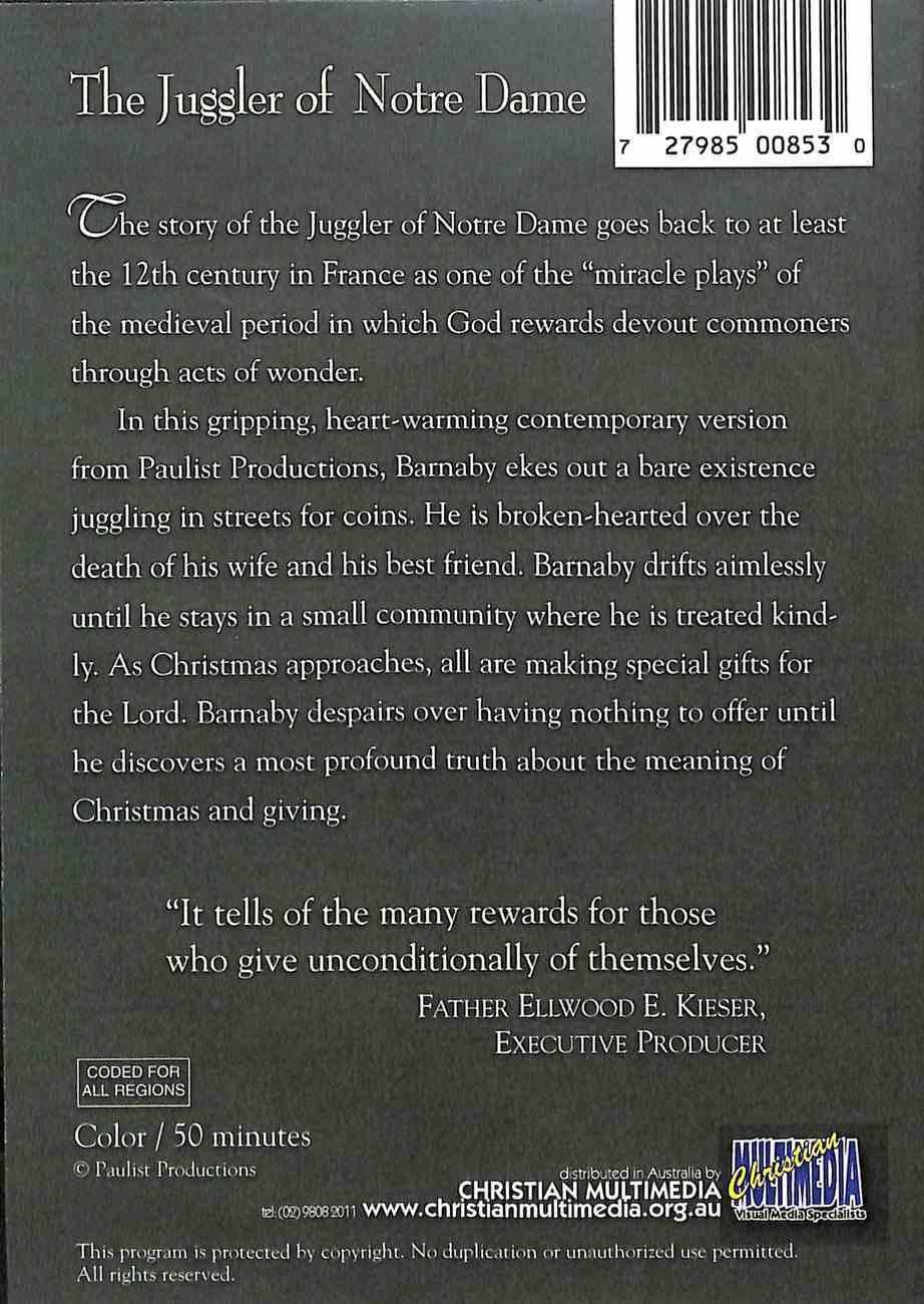 The Juggler of Notre Dame DVD
