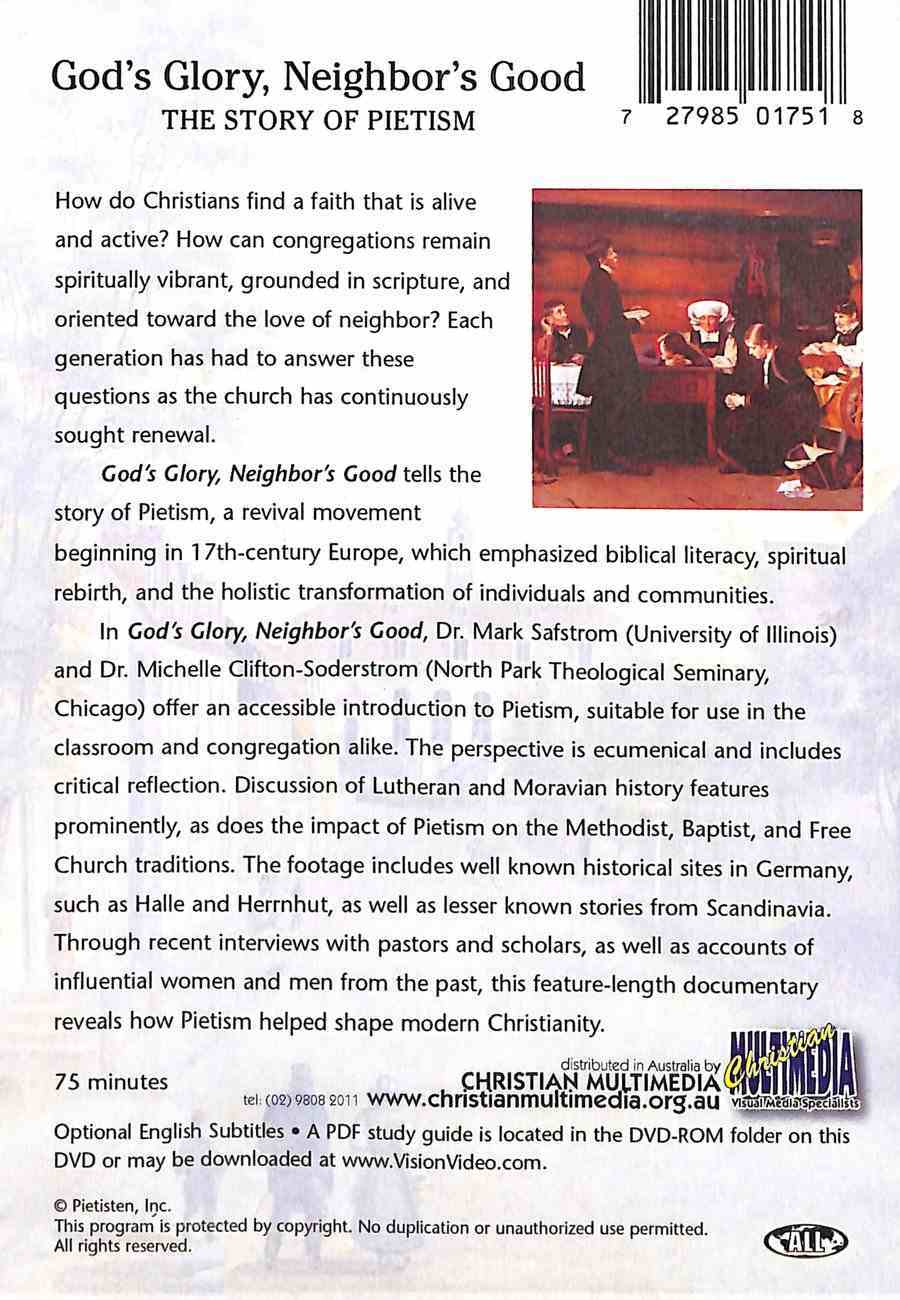 God's Glory, Neighbor's Good: The Story of Pietism DVD