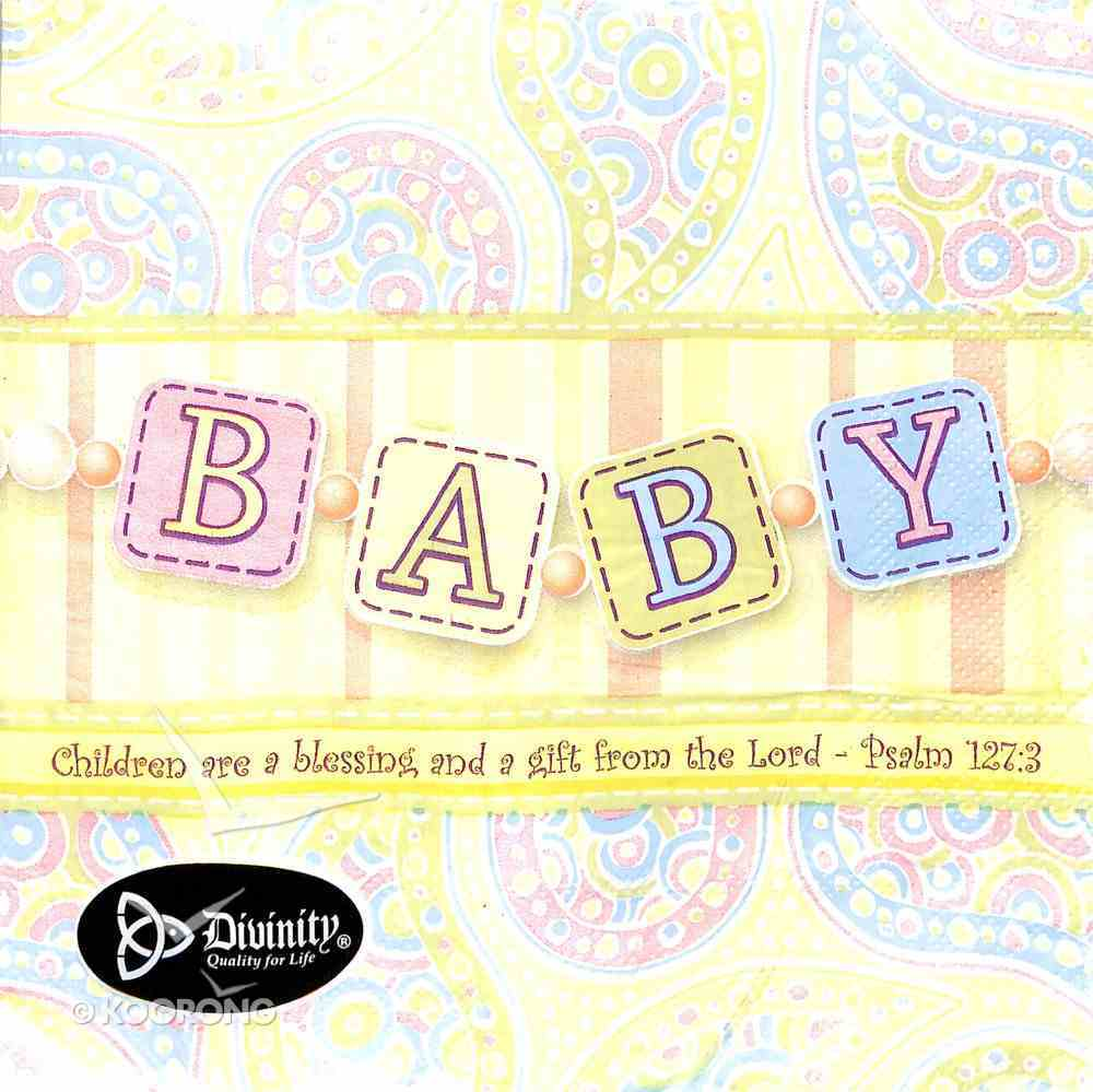 Napkins: Baby, Children Are a Blessing and Gift From the Lord (Psalm 127:3) Homeware