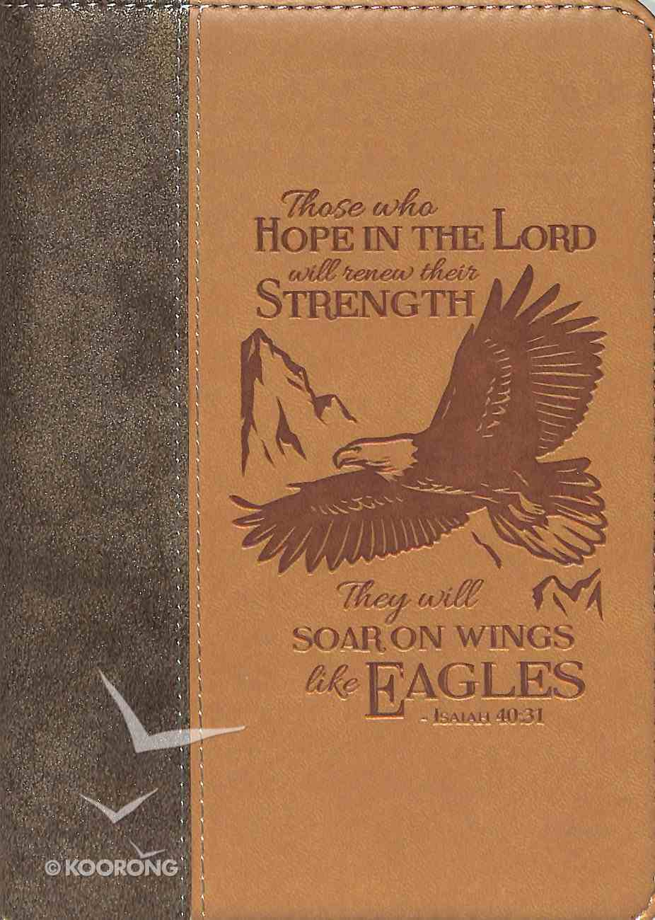 Journal Divine Details: Those Who Hope in the Lord....Light/Dark Brown, Zippered Closure Imitation Leather
