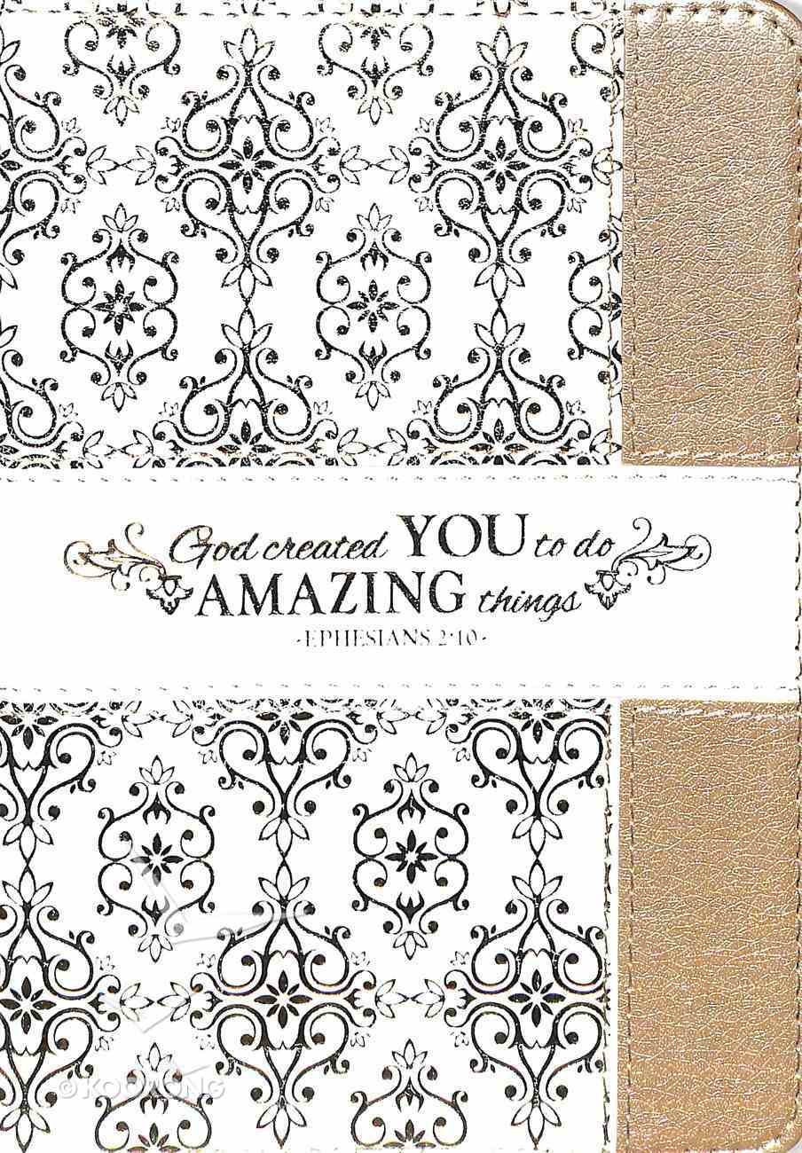 Journal Divine Details: God Created You to Do Amazing Things, Cream/Gold, , Zippered Closure (Eph 2:10) Imitation Leather