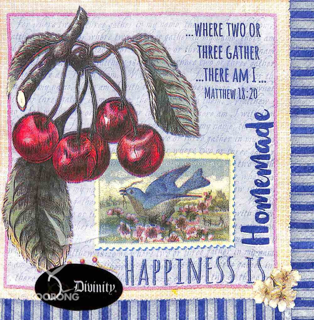 Napkins: Happiness is Homemade, Grapes on Vine Homeware