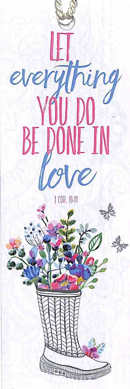 Bookmark Gardening: Let Everything You Do Be Done in Love (1 Cor:16) Stationery