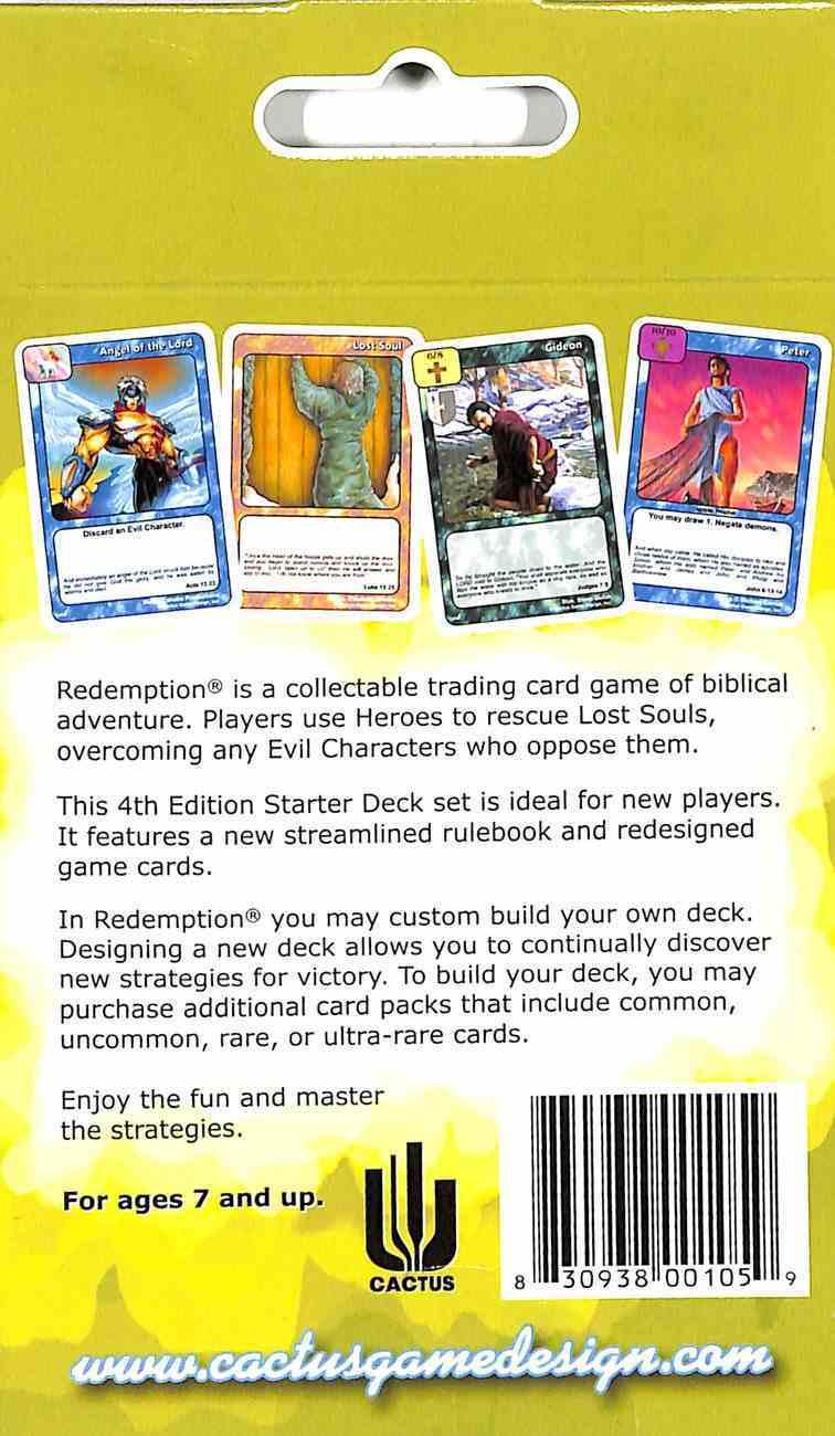 Redemption Starter Deck (4th Edition) (Redemption Card Game Series) Chart/card