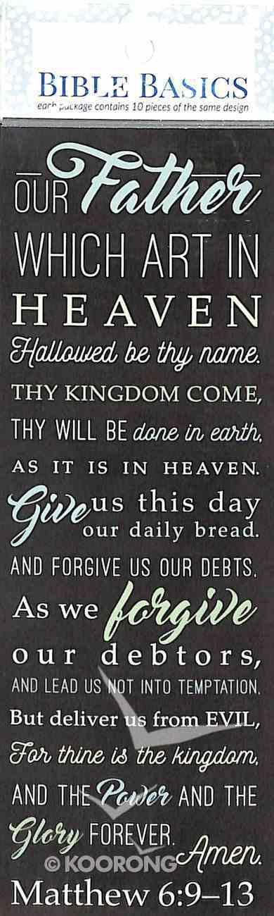 Lord's Prayer , Matthew 6: 9-13 (10 Pack) (Bible Basics Bookmark Series) Stationery
