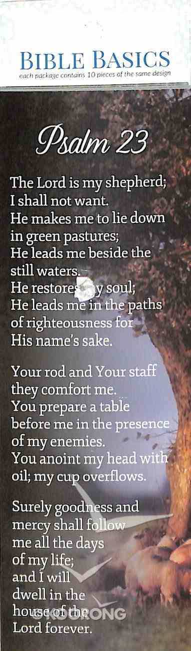Psalm 23 , Shepherds/Sheep Under a Tree (10 Pack) (Bible Basics Bookmark Series) Stationery