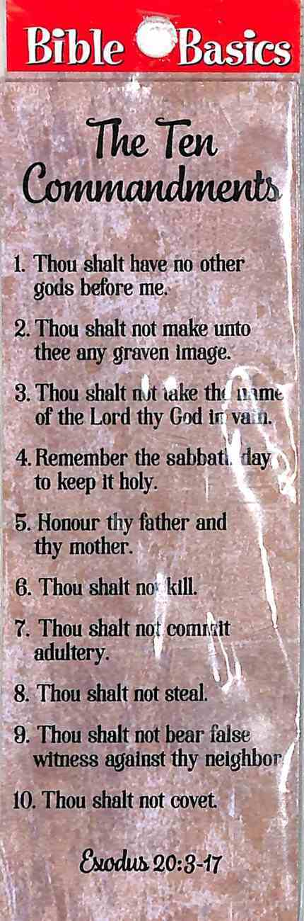 The Ten Commandments (10 Pack) (Bible Basics Bookmark Series) Stationery