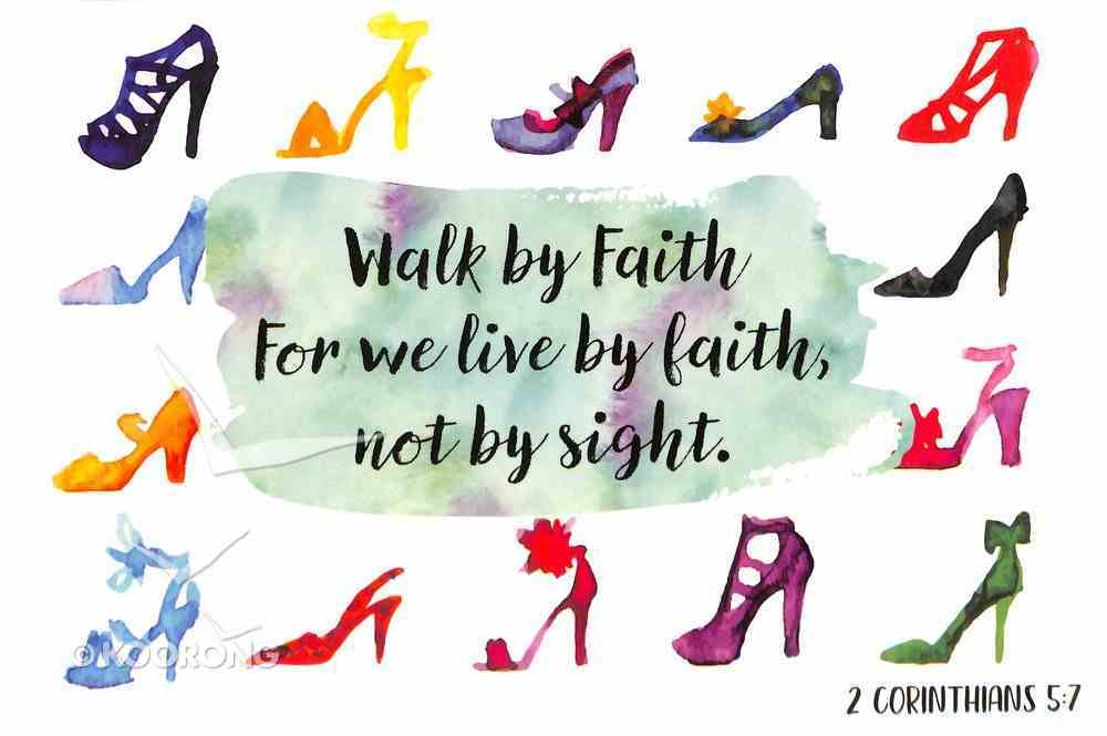 Poster Small: Walk By Faith Poster