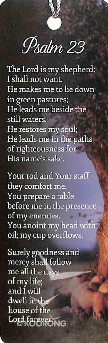 Bookmark With Tassel: Psalm 23, Sheep Under Shady Tree Stationery