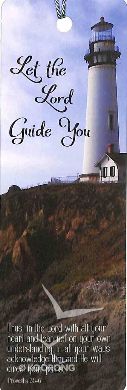Bookmark With Tassel: Let the Lord Guide You, Lighthouse on Hill Stationery