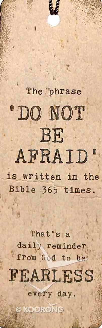 Bookmark With Tassel: 'Do Not Be Afraid' is Written in the Bible 365 Times Stationery