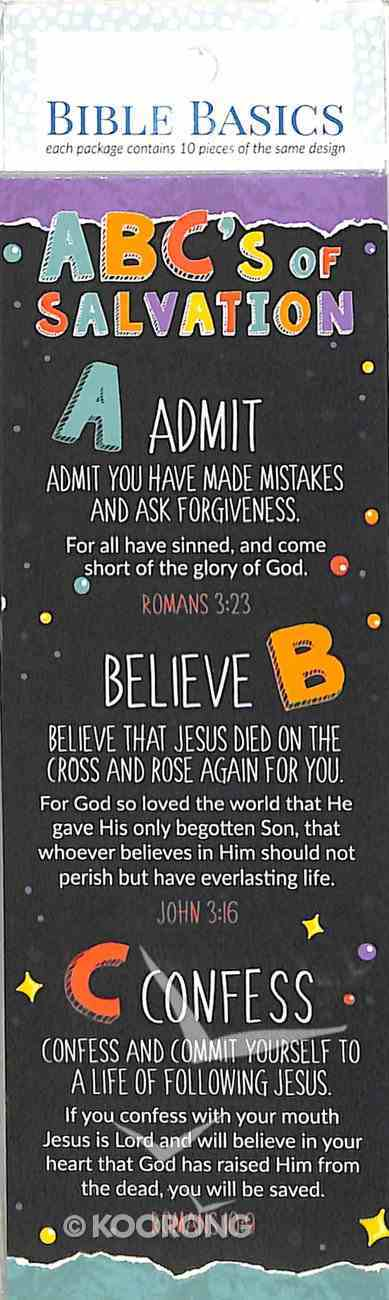 Abc's of Salvation (10 Pack) (Bible Basics Bookmark Series) Stationery