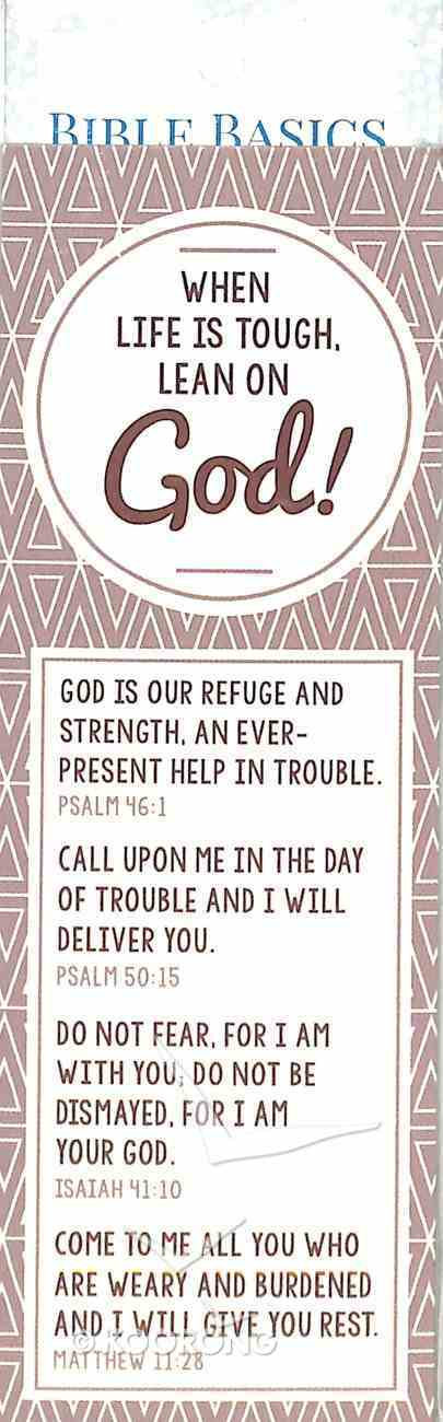 When Life is Tough, Lean on God! , Cream/Beige Pattern (10 Pack) (Bible Basics Bookmark Series) Stationery