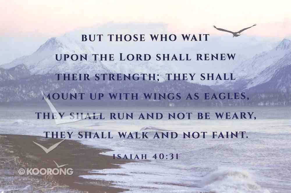 Poster Small: Isaiah 40:31 Poster
