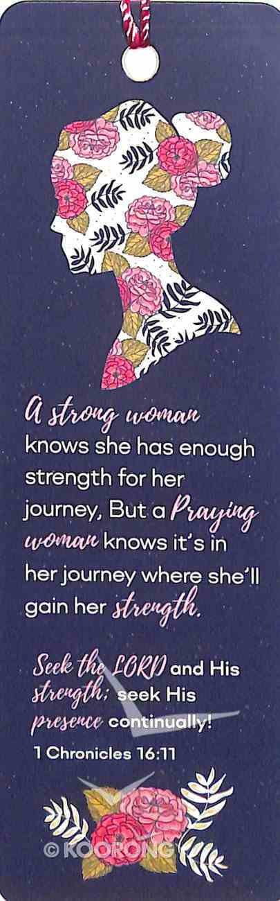 Bookmark With Tassel: A Strong Woman Knows (1 Chronicles 16:11) Stationery