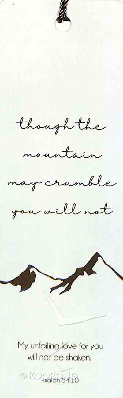 Bookmark With Tassel: Mountain May Crumble - Isaiah 54:10 Stationery