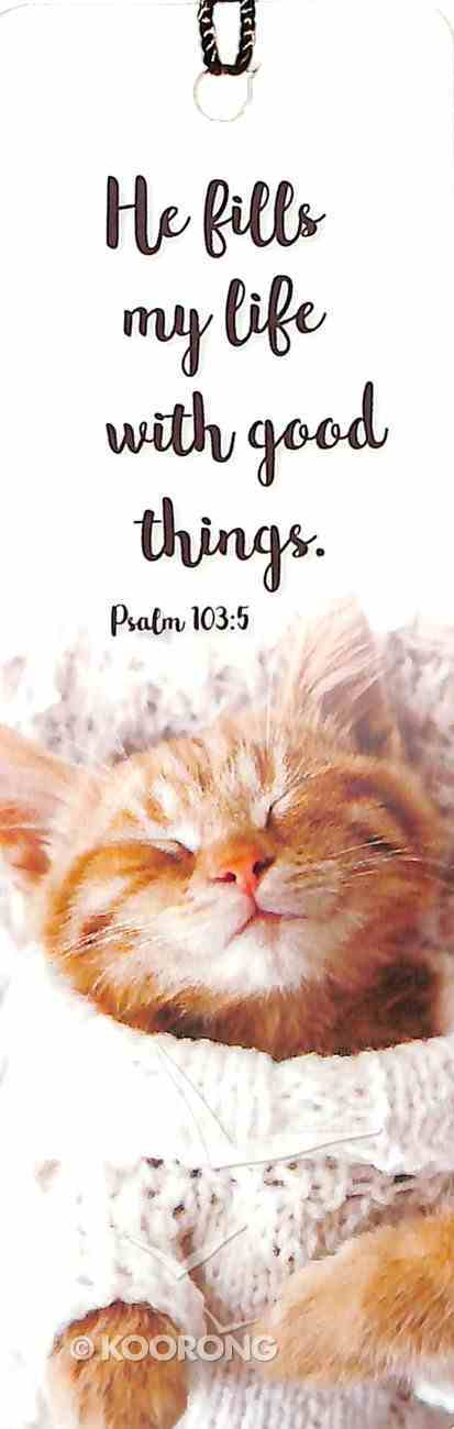 Bookmark With Tassel: He Fills My Life With Good Things - Psalm 103:5 Stationery