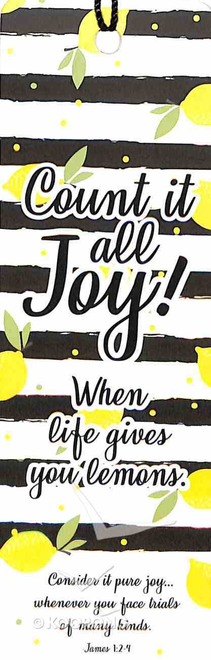 Bookmark With Tassel: Count It All Joy Stationery