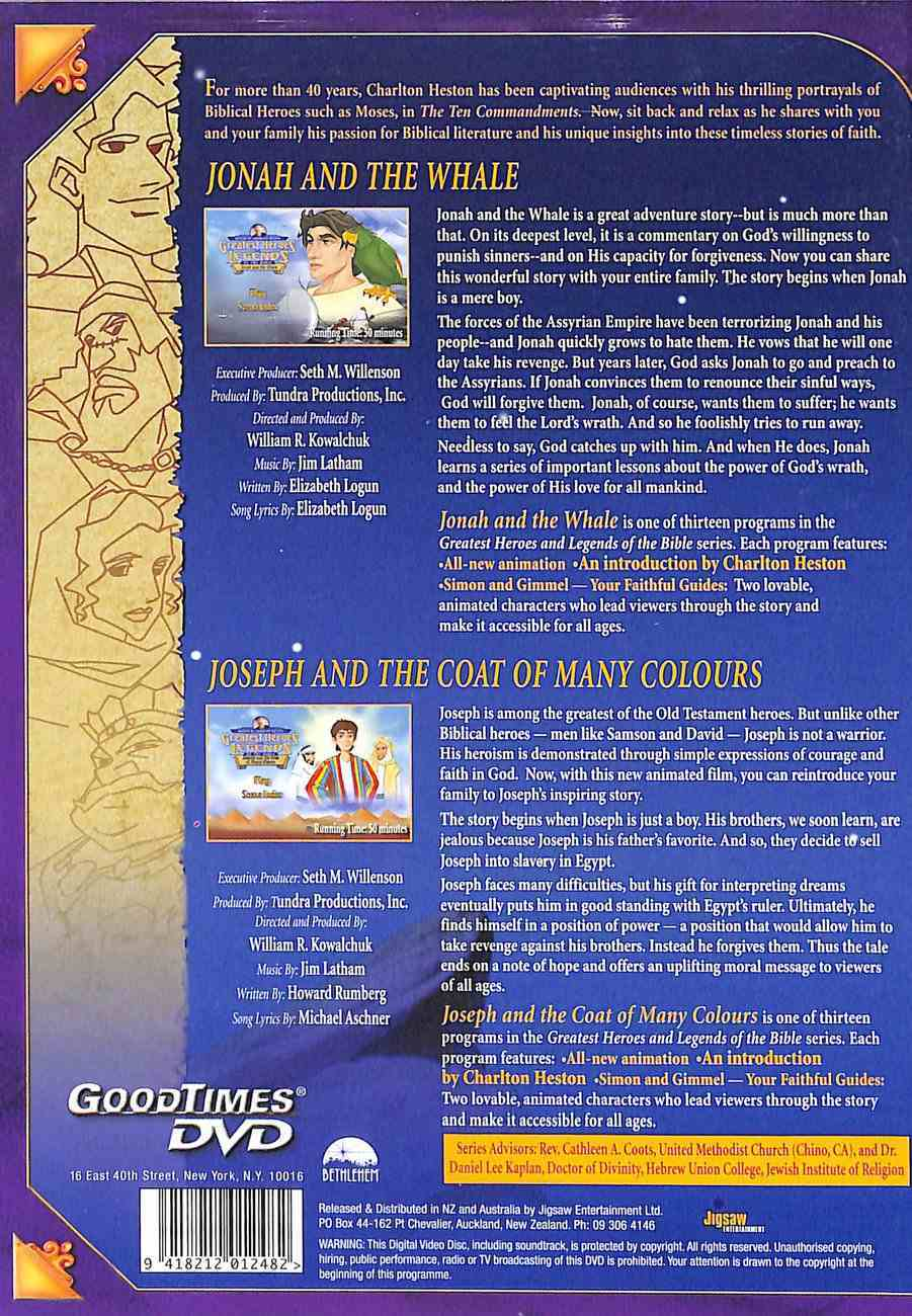 Jonah and the Whale/Joseph and the Coat of Many Colours (Greatest Heroes & Legends Of The Bible Series) DVD