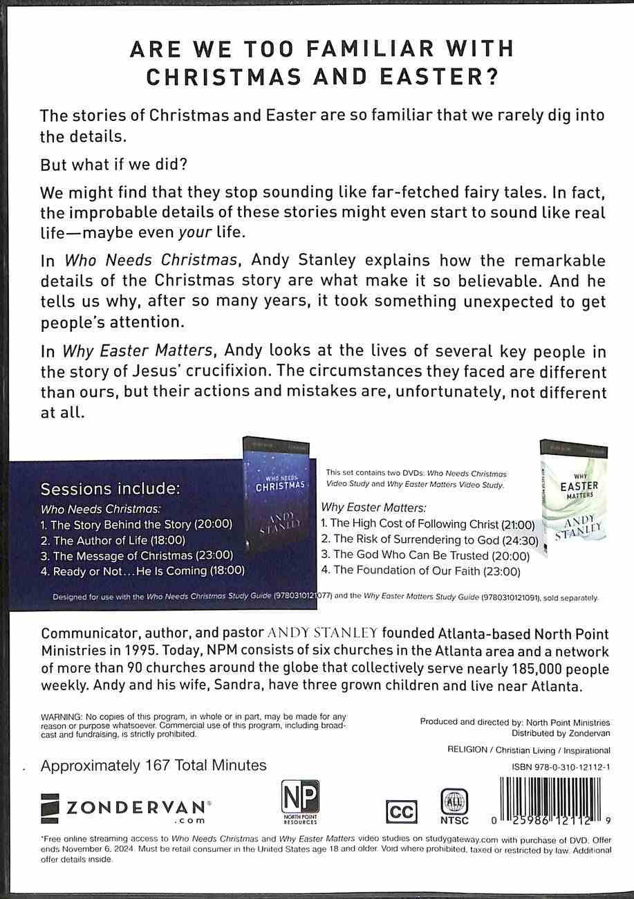 Who Needs Christmas and Why Easter Matters 4 Sessions (Video Study) DVD