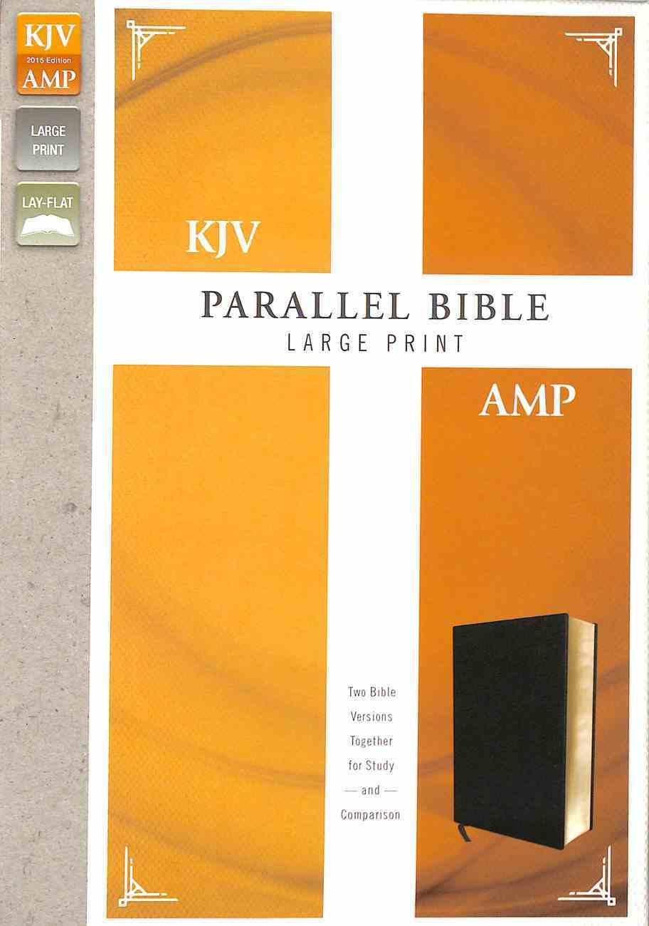 Kjv/Amp Parallel Bible Large Print Black (Kjv Red Letter, Amp Black Letter) Bonded Leather
