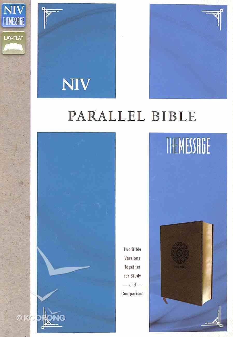 Niv/Message Parallel Bible Brown (Black Letter Edition) Premium Imitation Leather