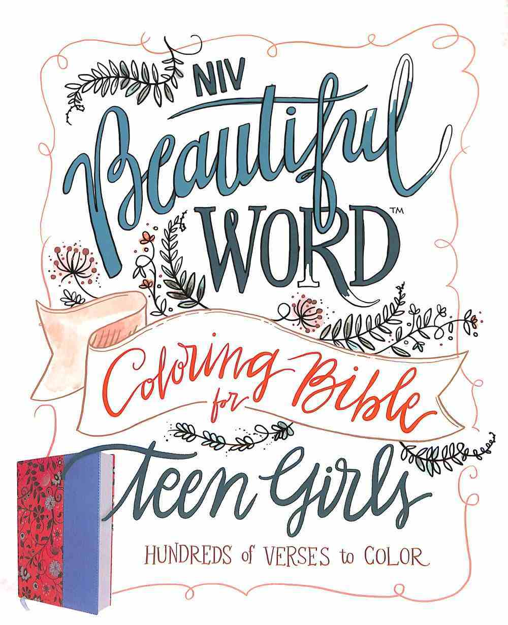 NIV Beautiful Word Coloring Bible For Teen Girls Pink/Blue (Black Letter Edition) Premium Imitation Leather