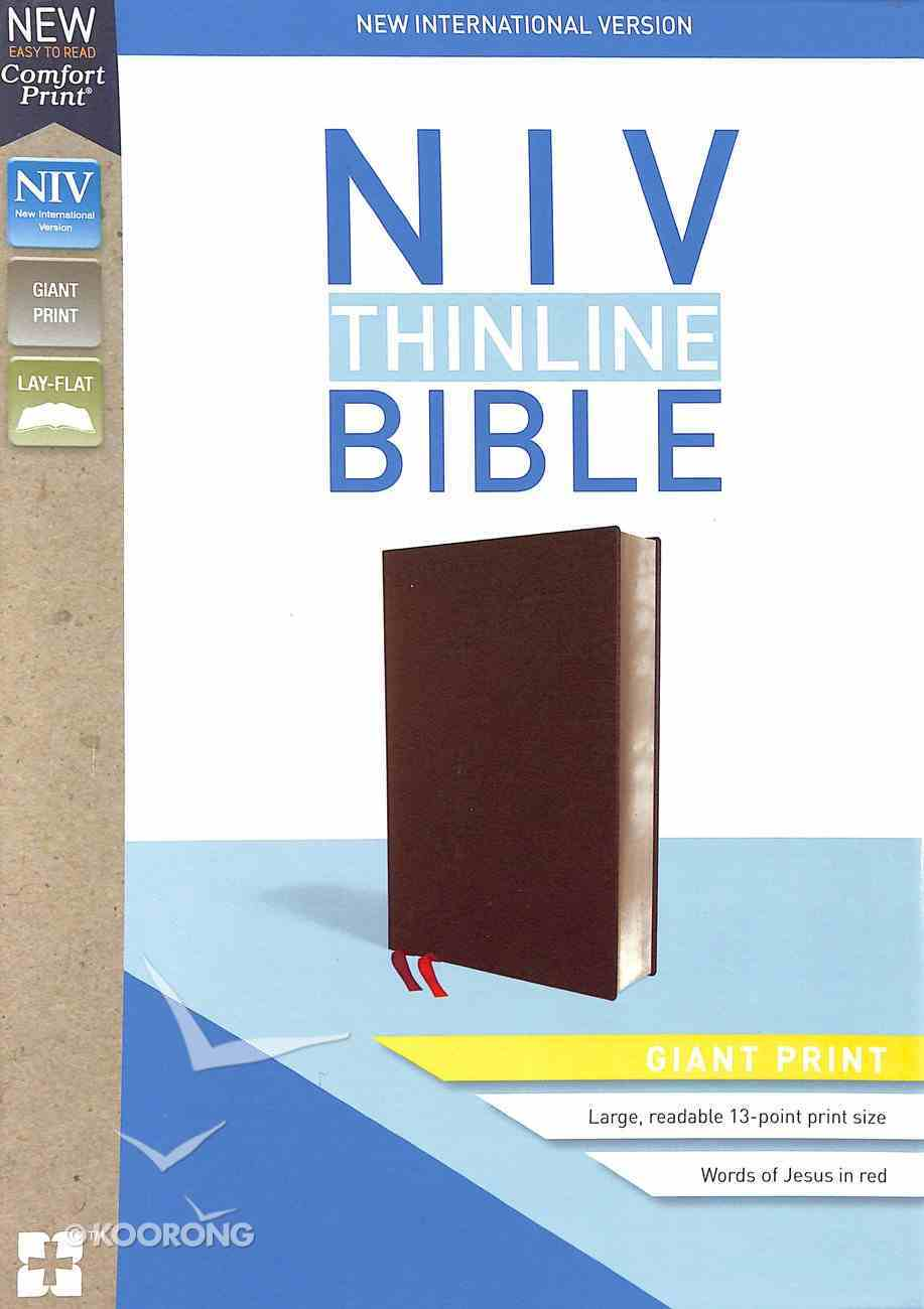 NIV Thinline Bible Giant Print Burgundy (Red Letter Edition) Bonded Leather