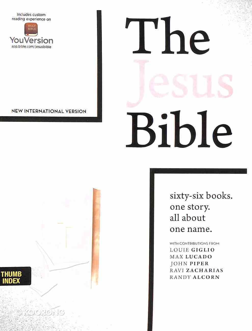 NIV the Jesus Bible Indexed Pink Imitation Leather Over Hardback