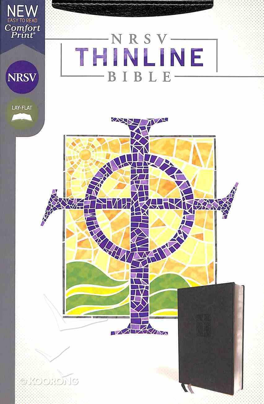 NRSV Thinline Bible Black Premium Imitation Leather