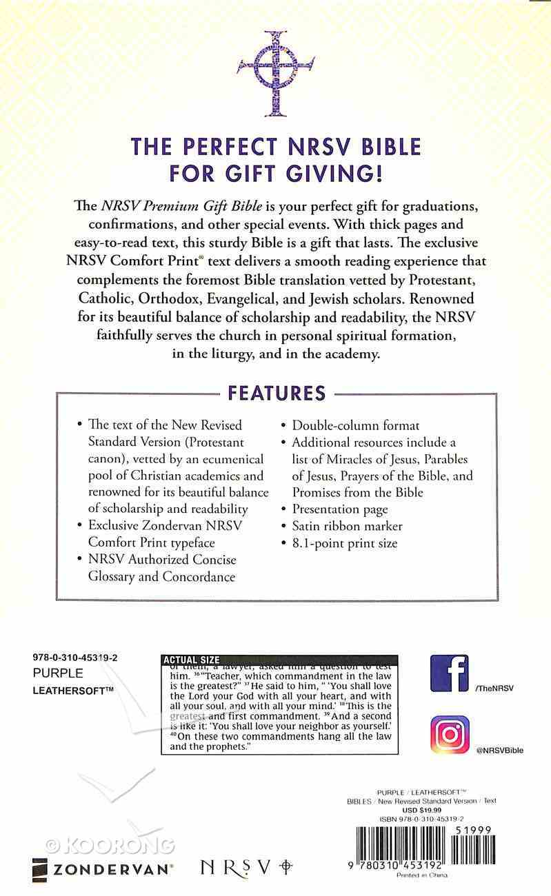 NRSV Premium Gift Bible Purple Premium Imitation Leather