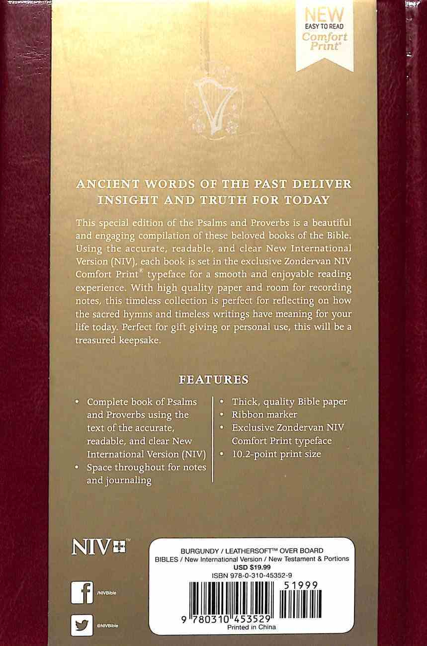 NIV Psalms and Proverbs Burgundy Hardback