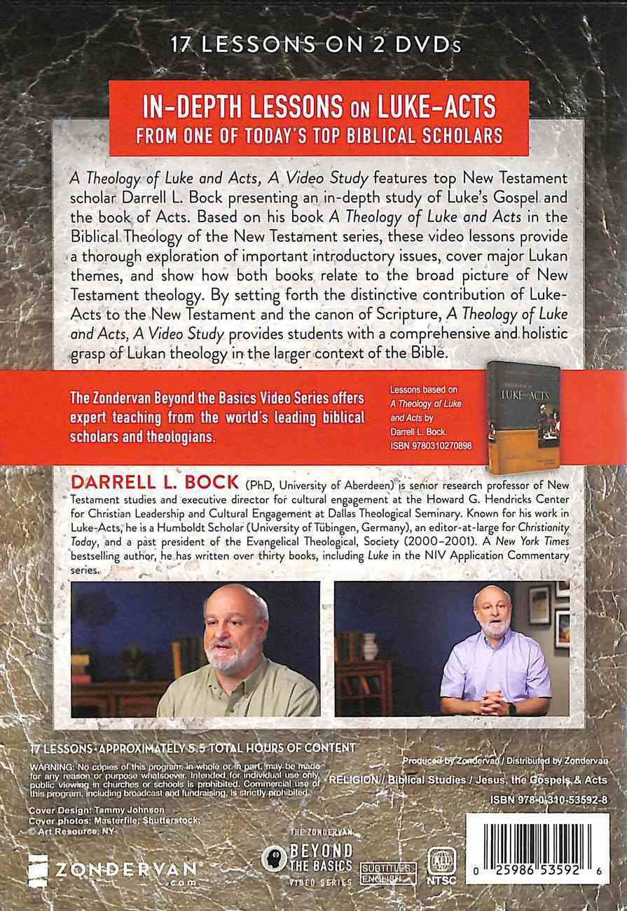 Theology of Luke and Acts, a : 23 Lessons on Major Theological Themes (Video Study) (Zondervan Beyond The Basics Video Series) DVD
