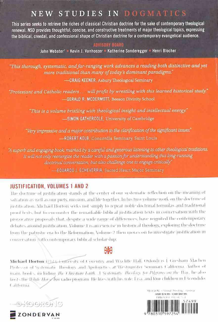 Justification (2 Volume Set) (New Studies In Dogmatic Theology Series) Paperback