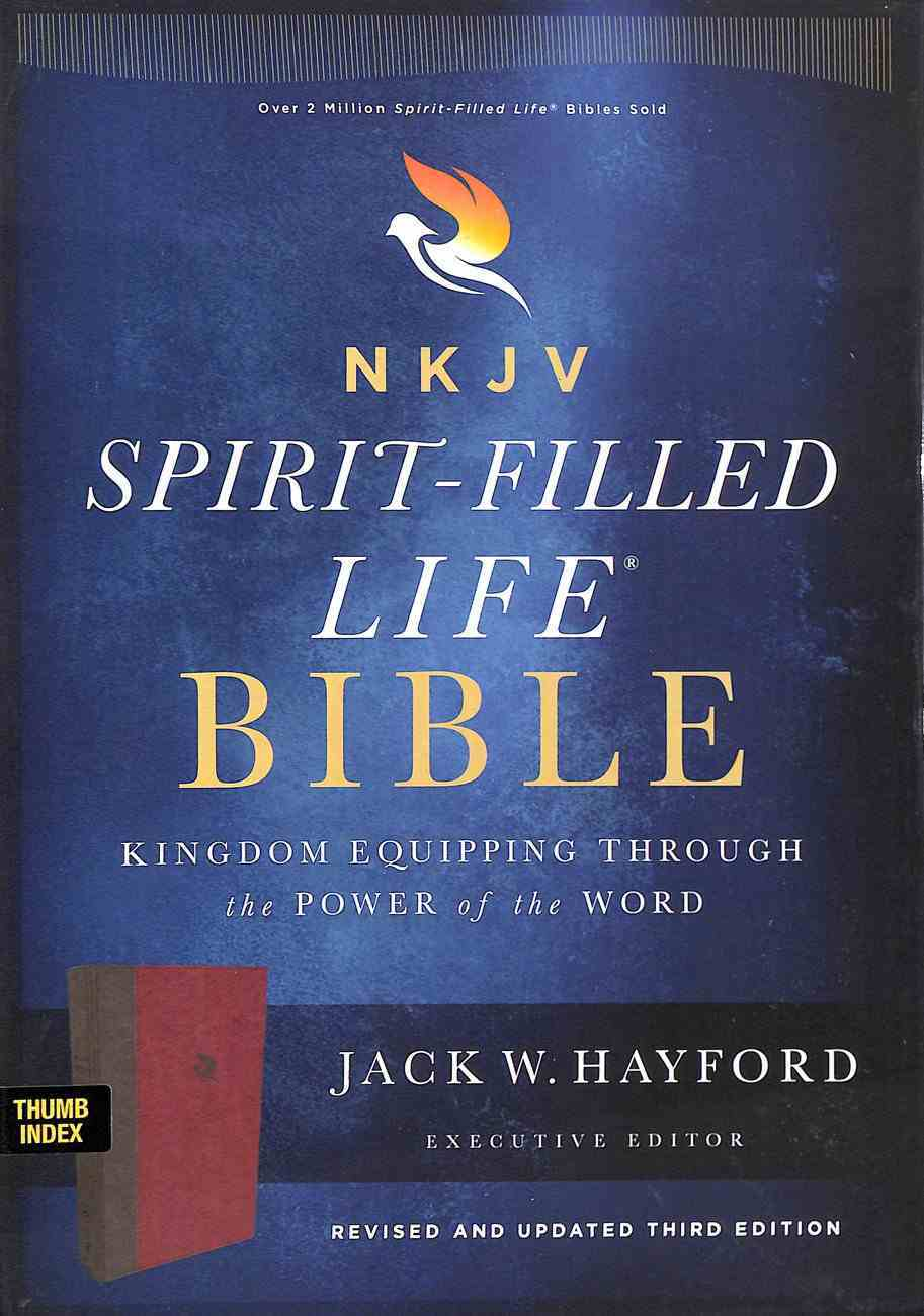 NKJV Spirit-Filled Life Bible Burgundy Indexed (Red Letter Edition) (Third Edition) Premium Imitation Leather