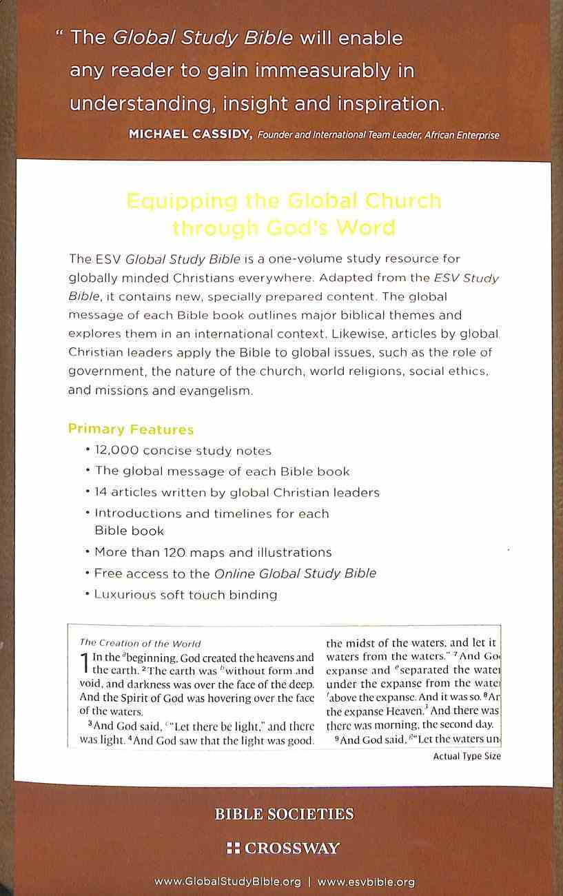 ESV Global Study Bible Premium Edition Imitation Leather