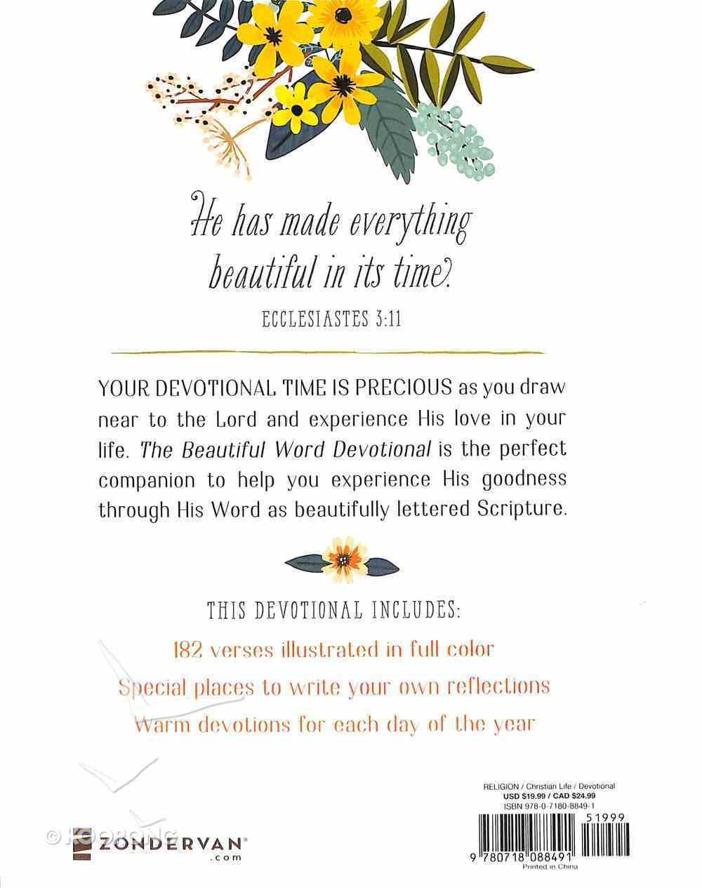 The Beautiful Word Devotional Hardback
