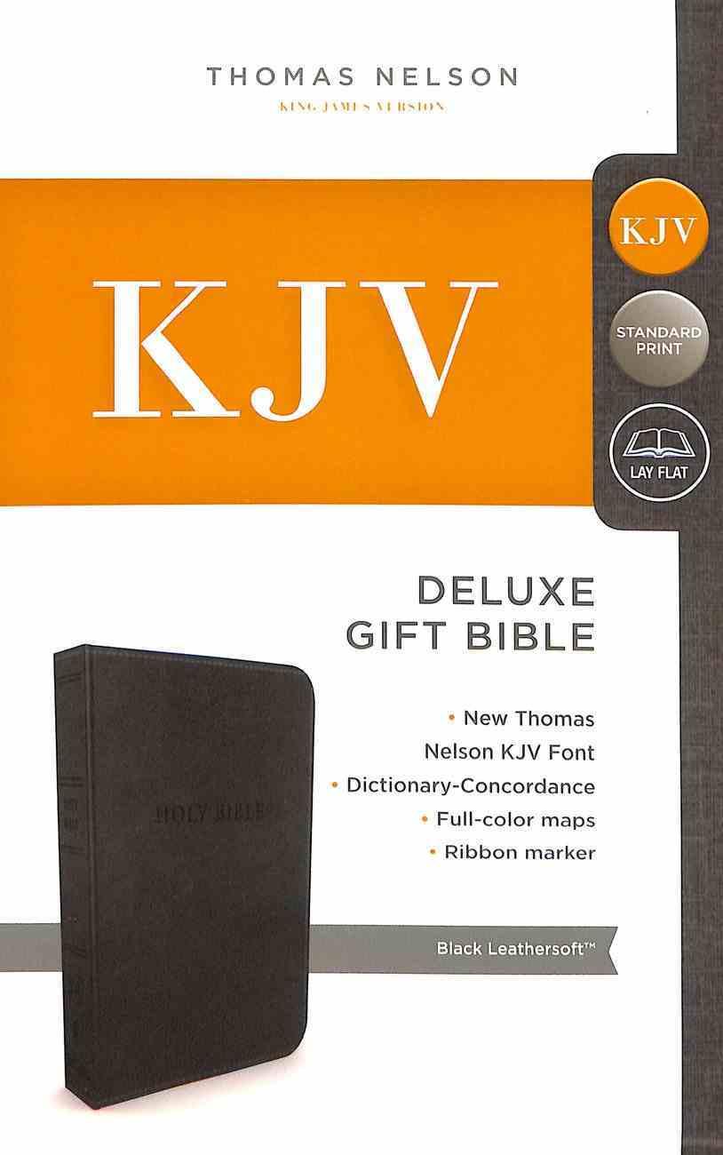 KJV Deluxe Gift Bible Black (Red Letter Edition) Premium Imitation Leather