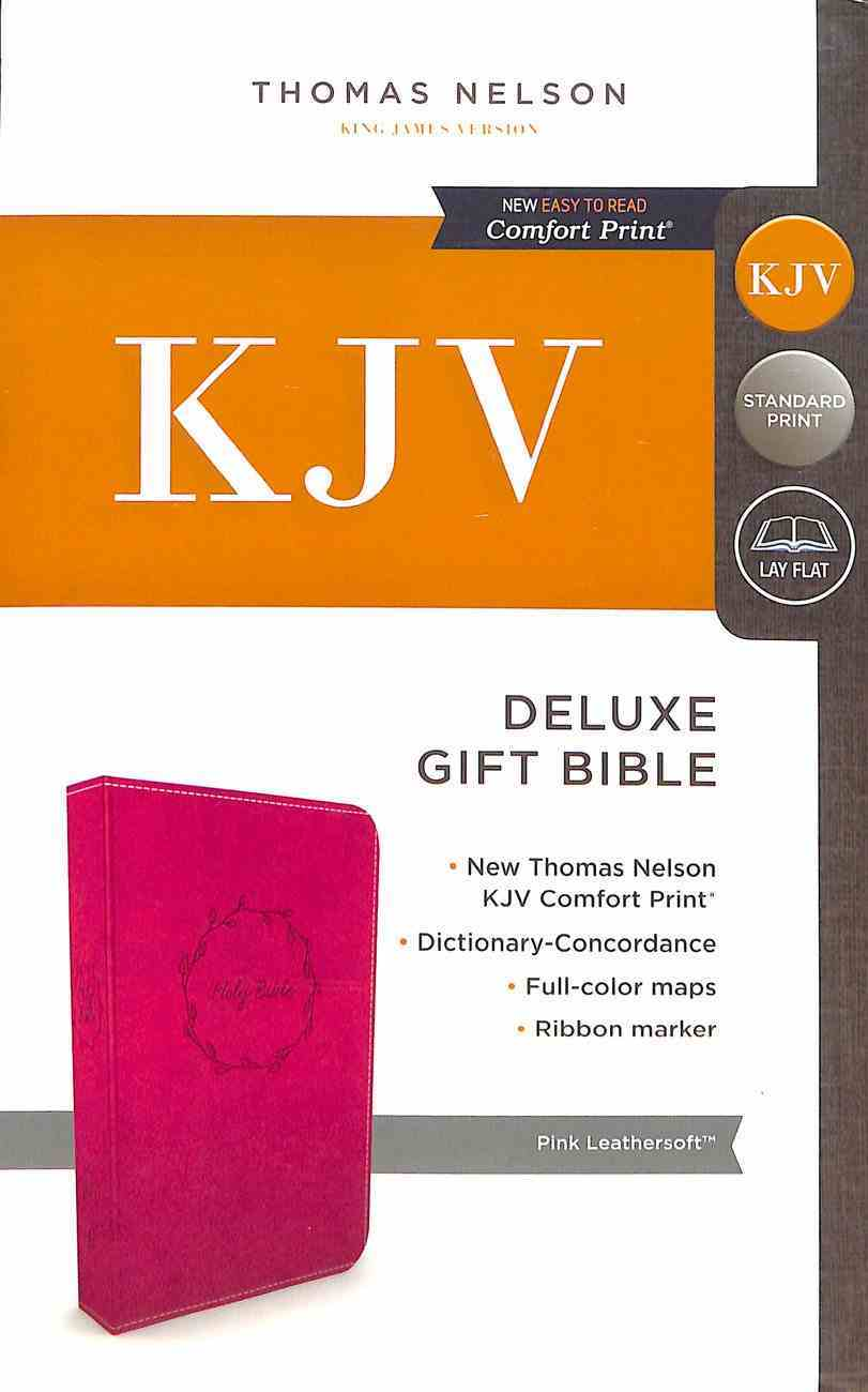 KJV Deluxe Gift Bible Pink (Red Letter Edition) Premium Imitation Leather