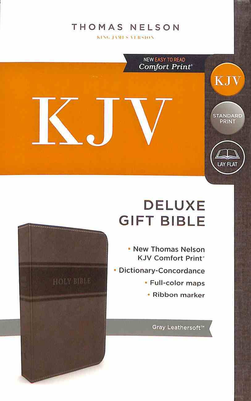 KJV Deluxe Gift Bible Gray (Red Letter Edition) Premium Imitation Leather
